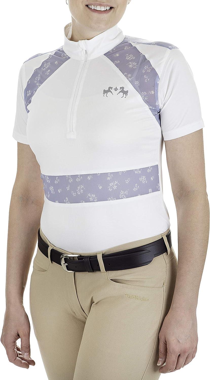Equine Couture Ladies Nicolette Equicool Short Shirt Brand Cheap Sale Venue Rare Sleeve Show