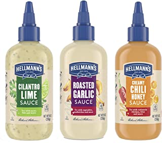 Hellmann's Drizzle Sauce for A Refreshing Condiment, Dip, Drizzle and Dress Mixed Variety Pack Gluten Free, Dairy Free, No...