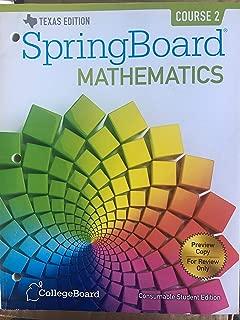 SpringBoard Mathematics Course 2 Student Edition