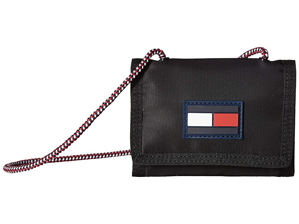 Tommy Hilfiger Leah Trifold Wallet (Black) Wallet Handbags