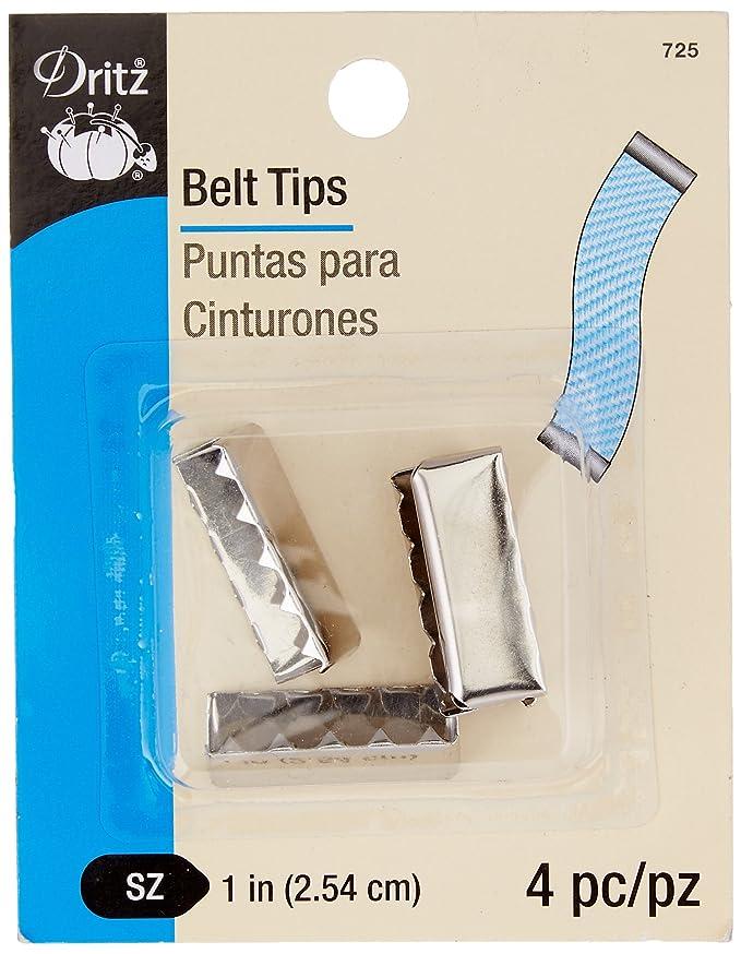 Dritz 725 Belt Tip, Nickel, 1-Inch 4-Count