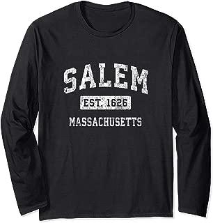 Salem Massachusetts MA Vintage Established Sports Design Long Sleeve T-Shirt