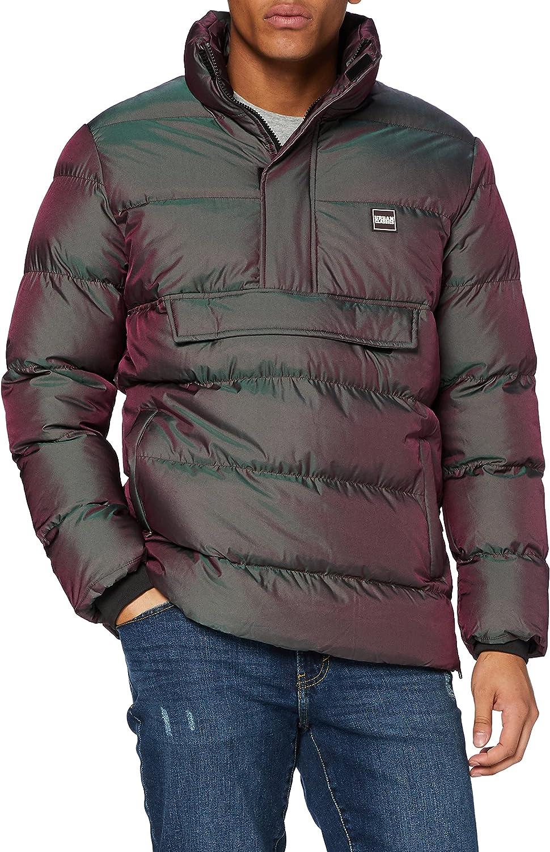 Urban Classics Men Winter Jacket Shimmering Pull Over Puffer