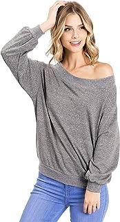 Wish List Women's Juniors Slouchy Pullover Longsleeve Knit Top