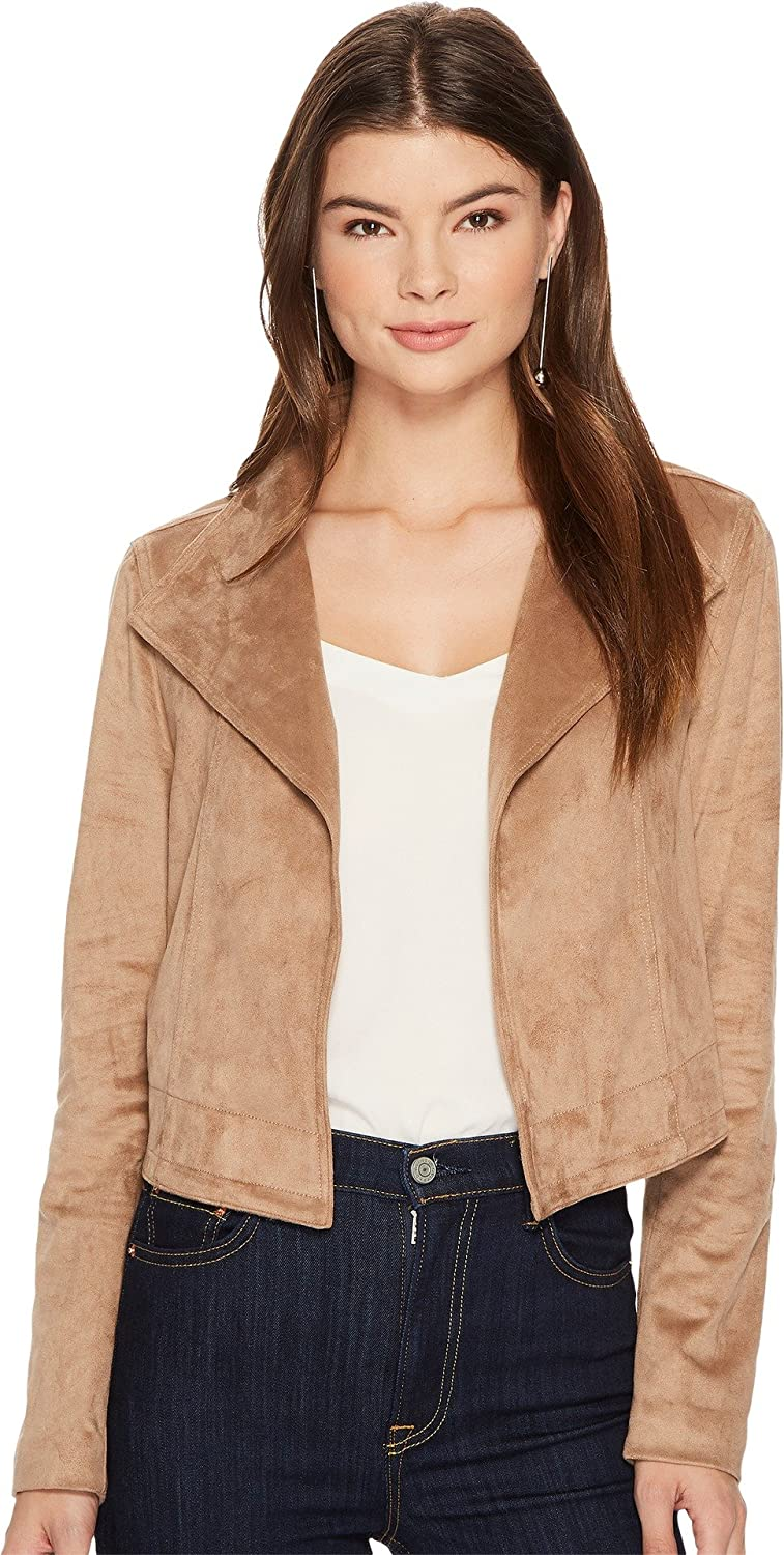 1.State Womens Faux Suede Cropped Jacket