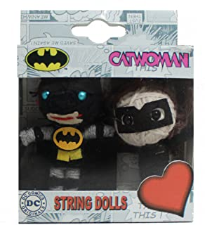 Batman-Catwoman DC Comics Originals String Doll Keychain (2-Pack)