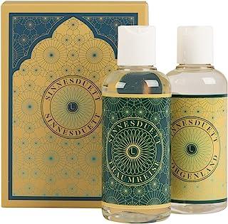Deluxe massageolja presentset (2 x 100 ml) Lumunu sinnduett, för avslappnande massage