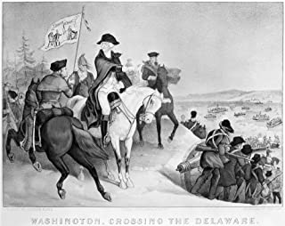 George Washington N(1732-1799) First President Of The United States George Washington Crossing The Delaware River On The E...