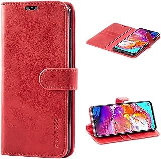 comprar comparacion Mulbess Funda Samsung Galaxy A70 Libro Caso Cubierta Vintage de Billetera Cuero de la PU con Tapa Magnética Carcasa pa...