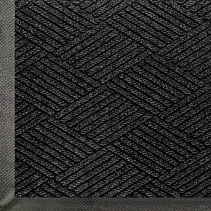 WaterHog Eco Commercial Grade Entrance Mat Indoor Outdoor Black Smoke Floor Mat 5 Length X 3 Width Black Smoke By M A Matting