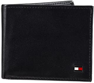 Tommy Hilfiger Mens Leather Wallet – Slim Bifold with 6 Credit Card Pockets and Removable Id Window Bi-Fold Wallet