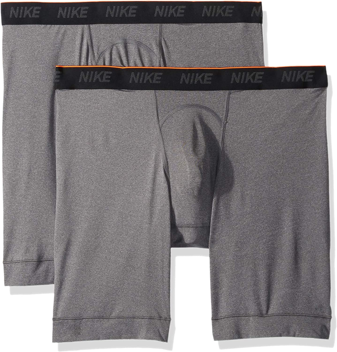 romántico Terrible Solicitud  Amazon.com: NIKE Men's Long Boxer Briefs (2 Pack): Clothing