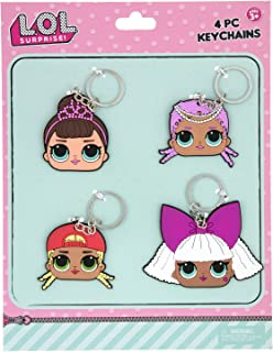 L.O.L SURPRISE 4 Bendable Rubber Keychains, Pink