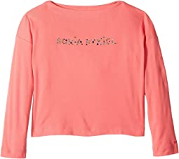 Sonia Rykiel Kids - Long Sleeve Logo T-Shirt (Big Kids)