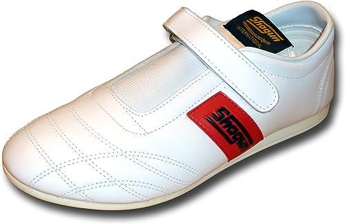 SHOGUN chaussures en cuir souple de Taekwondo - livraison gratuite, taille 36, blanche