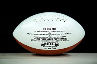 ZXOTTY to My Son Love You from Engraved American Football Gift for Your Son Anniversary Birthday Wedding Graduation Gift to Fan Quote Mother