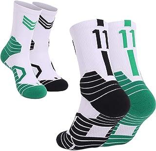 WELKANA, 2 Pares Calcetines de Deporte para Hombre Calcetines de Rendimiento Múltiple Amortiguación Transpirable Anti Ampollas Cómodos Calcetines para Deportes al Aire Libre y Actividades Deportivas.
