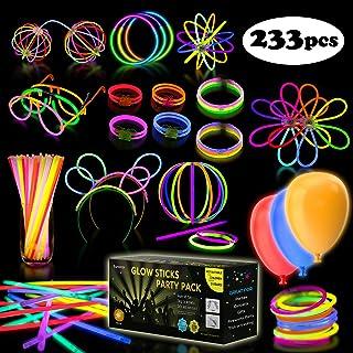 """Multicolor Glow Sticks Bulk Party Pack - 248 Piece Light Stick Set - Includes 100x 8"""" Glow Sticks, 10x 11"""" Glow Sticks, 4x..."""