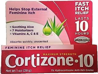 Cortizone-10 Maximum Strength Feminine Relief Anti-Itch Creme 1 oz, PACK OF 2