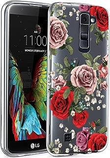 LG K10 Case, LG Premier LTE L62VL L61AL Case with Flowers, BAISRKE Slim Shockproof Clear Floral Pattern Soft Flexible TPU Back Cove for LG K10 MS428 K428SG [Roses]