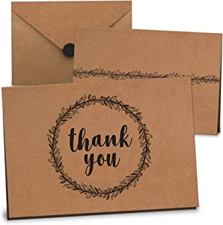 Thank You Cards Bulk Set of 100 - Includes Thank You Notes, Blank Cards with Envelopes & Stickers - Perfect for Business, ...