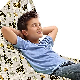 ABAKUHAUS Girafe Jouet Sac de Rangement Chaise Lounge, Animaux Enfants Cheery, Stockage pour Animal en Peluche à Haute Cap...