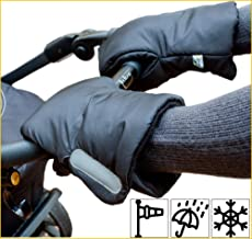 Biddy Kinderwagen Handwärmer I Kinderwagen Handschuhe I Handmuff für Kinderwagen - Kinderwagenmuff mit Reflektor extra warm schwarz