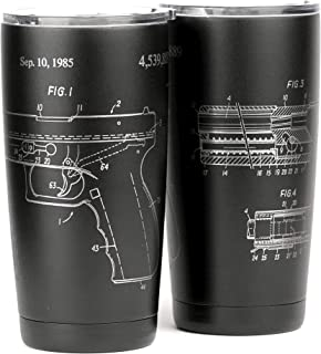 Glock Patent Design Laser Engraved 20oz Stainless Tumbler - 360 Degree Wrap