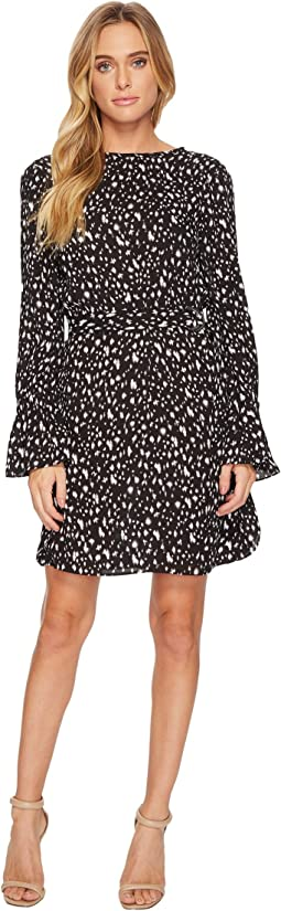 Ellen Tracy - Crew Neck Dress With D-Ring Belt