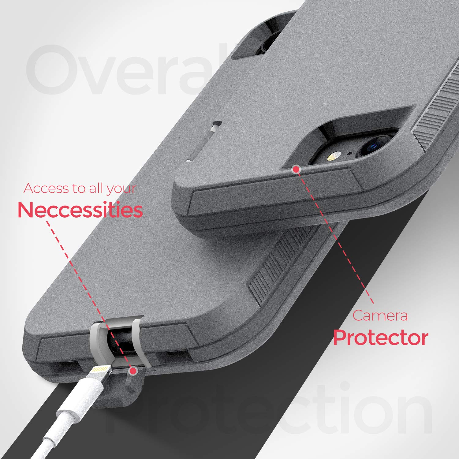 ORIbox Case Compatible with iPhone 7 Plus Case, Compatible with iPhone 8 Plus Case, Heavy Duty Shockproof Anti-Fall case