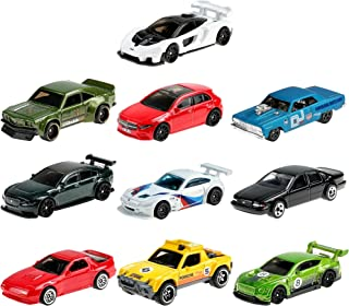 Hot Wheels Nightburnerz 10 Pack Mini Collection, 10 1:64 Scale Vehicles Themed to Super Speeders for Night Driving Each wi...