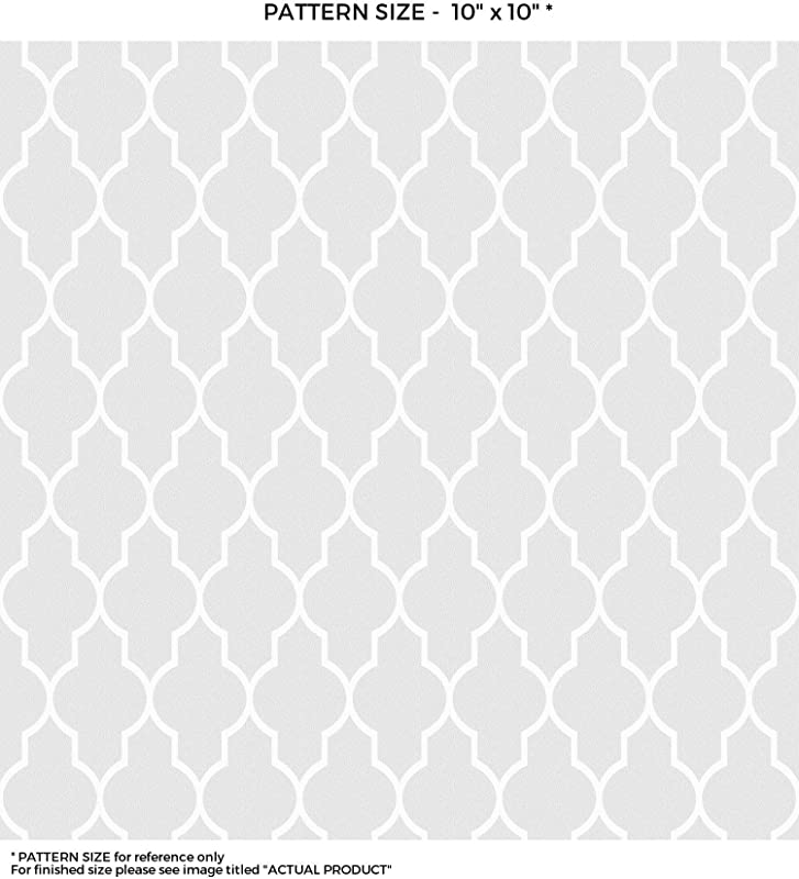 WindowPix 24 X 72 White Seamless Quatrefoil Design Frosted Window Film Privacy Static Cling Film UV Filtering Energy Saving