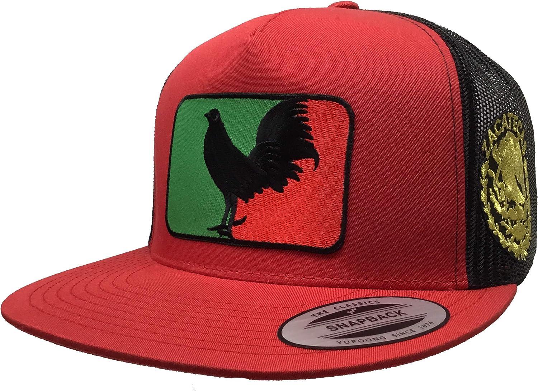 El Gallo Negro de Zacatecas Logo Federal 2 Logos hat red Black mesh