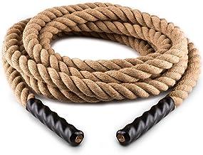 Capital Sports Power Rope H4 - Battle Rope, Fitness Rope, vliegtouw, touwtrekken, natuurlijke hennepvezel, drielaags, mode...