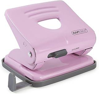 Rapesco 1358 2-Hole Metal Punch, 25 Sheet Capacity, Candy Pink