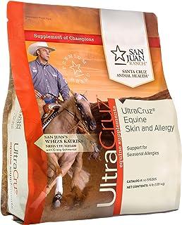 UltraCruz Equine Skin and Allergy Supplement for Horses, 4 lb, Pellet, (31 Day Supply) (sc-516365)