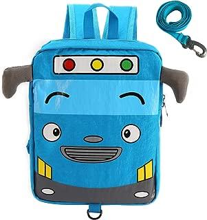 Willikiva Little Cute Bus Travel School Backpack for Kids Boys Girls to Preschool Waterproof Children