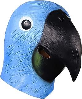 Bird Masks, Novelty Halloween Costume Party Deluxe Latex Realistic Animal Head Masks, Parrot, Raven, Pigeon