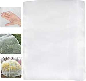 Bug Mesh Insect Netting, 8' x 20' Garden Netting Pest Barrier Bird Netting Protect Plant Vegetables Fruits Crops from Bugs, Plant Protecting Netting - White