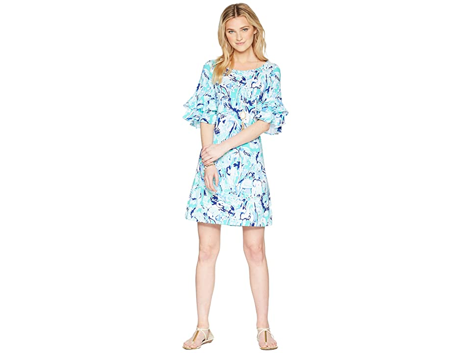 Lilly Pulitzer Lula Dress (Tropical Turquoise Elephant Appeal) Women