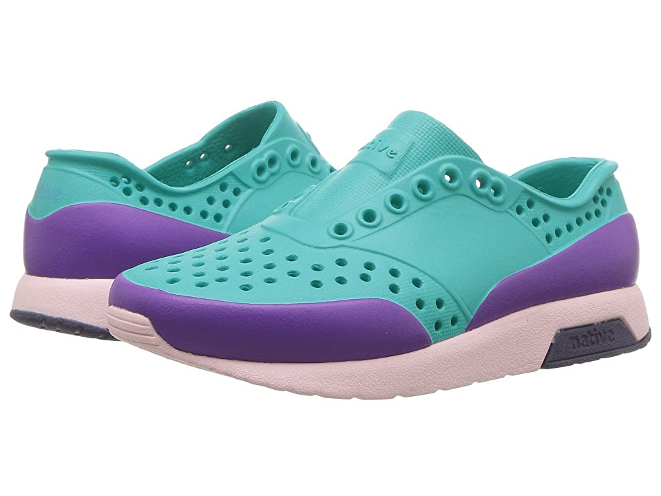 Native Kids Shoes Lennox Block (Toddler/Little Kid) (Glacier Green/Cold Pink/Regatta Blue/Starfish Block) Girls Shoes