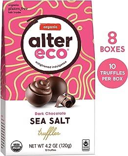 Alter Eco | Deep Dark Sea Salt Truffles | 58% Pure Dark Cocoa, Fair Trade, Organic, Non-GMO, Gluten Free Dark Chocolate Truffles, Case of 8