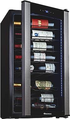 Wine Enthusiast VinoView 28-Bottle Wine Fridge – Freestanding Refrigerator