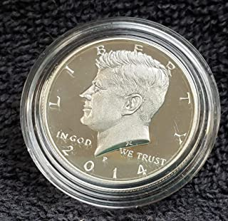 2014 P Gem Proof Silver Kennedy Half Dollar 1/2 Proof Ultra Cameo 50th Anniversary High Relief US Mint