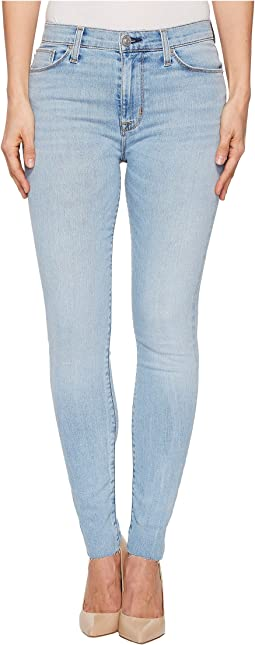 Hudson Barbara High-Waist Ankle w/ Raw Hem Super Skinny Jeans in Gemini