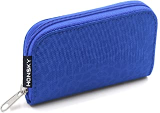 Honsky Nylon Memory Card Case Blue Blue(Leopard Print)