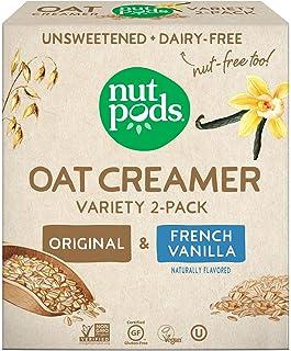 nutpods Oat Creamer Variety 2-Pack - French Vanilla Oat Coffee Creamer & Original Oat Coffee Creamer