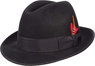 Classico Men's Wool Felt Fedora Hat, Black, X-Large