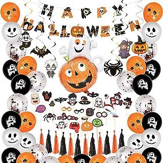 Molbory Ballons d'halloween-Halloween De Décorations, Kit Deco Halloween Interieur, 48 Ballons 25 Pcs Accessoires Photo,Ba...