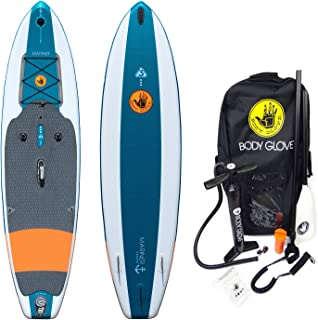 Body Glove Mariner Inflatable Stand Up Paddle Board, Emerald/Orange,11'